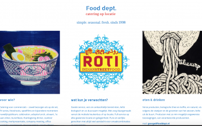 Webdesign – fooddept filmcatering Amsterdam